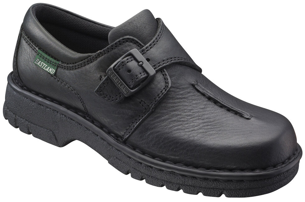 Eastland Women's Black Syracuse Slip-On Shoes , Black, hi-res