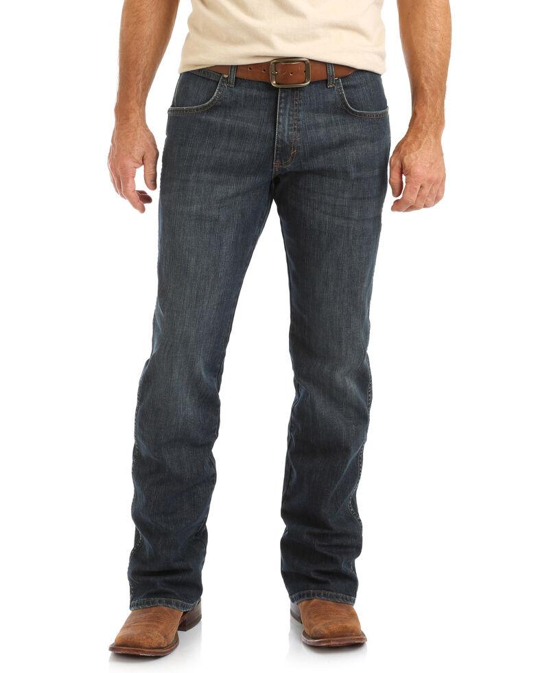 Wrangler Retro Men's Falls City Dark Relaxed Bootcut Jeans , Blue, hi-res