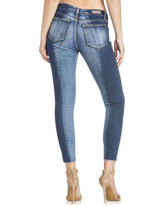 Miss Me Women's Contrasting Ankle Skinny Jeans , Indigo, hi-res