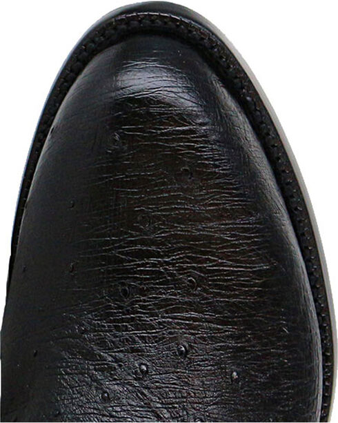 Lucchese Men's Handmade Ward Smooth Ostrich Roper Boots - Round Toe, Black, hi-res