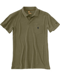 Carhartt Men's Force Extremes Pocket Polo , Olive, hi-res
