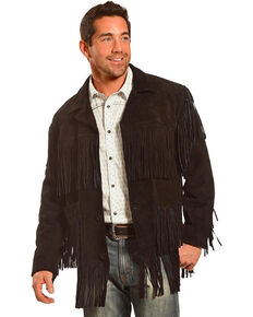 fdb5052337a Liberty Wear Men s Fringe Suede Leather Jacket - Big
