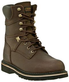 "McRae Industrial Men's 8"" Lace-Up Work Boots - Steel Toe, Dark Brown, hi-res"