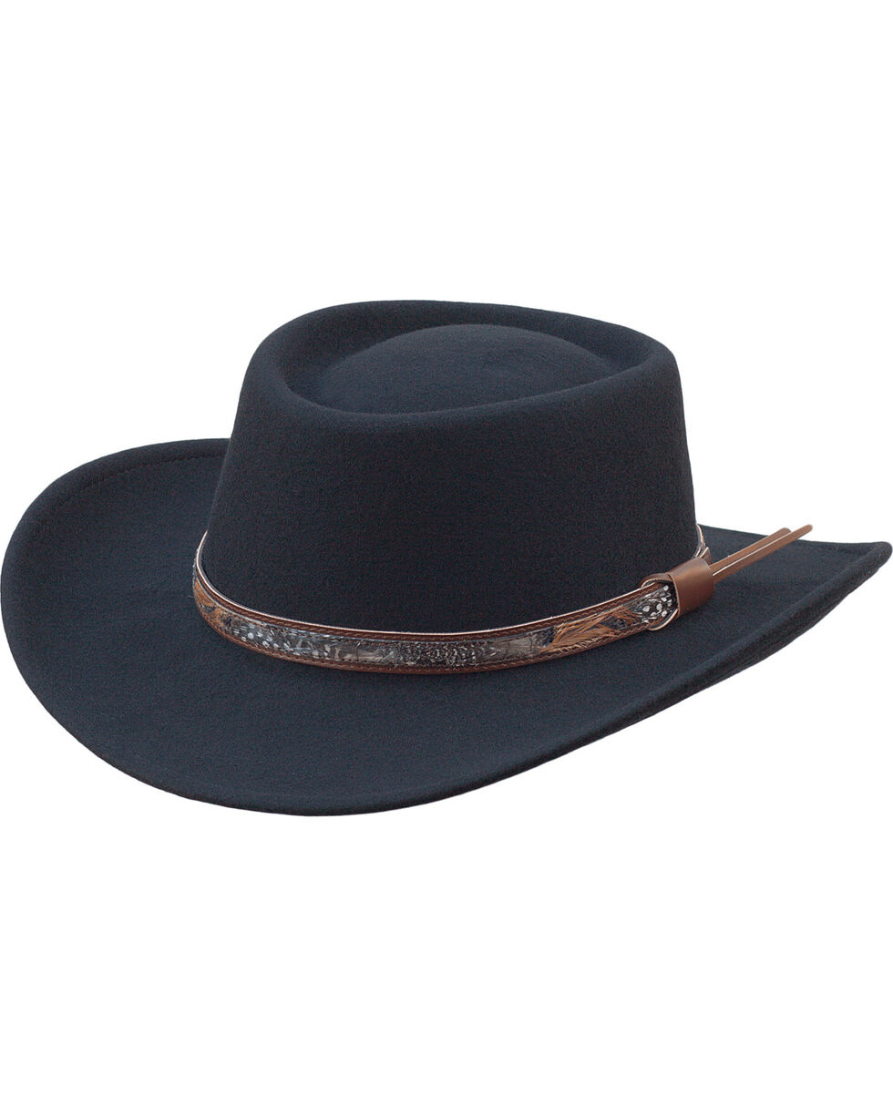 Silverado Men's Holden Black Wool Crushable Hat, Black, hi-res
