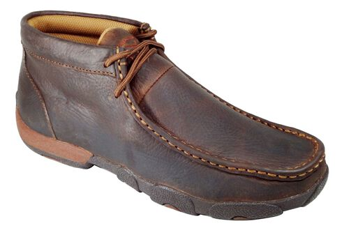 Twisted X Driving Lace-Up Moccasins - Round Toe, Copper, hi-res