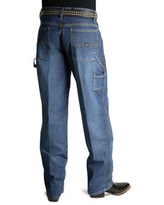 Cinch Men's Blue Vintage Label Utility Fit Tapered Relaxed Jeans , Vintage, hi-res