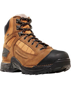"Danner Men's Brown Instigator GTX 6"" Boots - Round Toe , Brown, hi-res"
