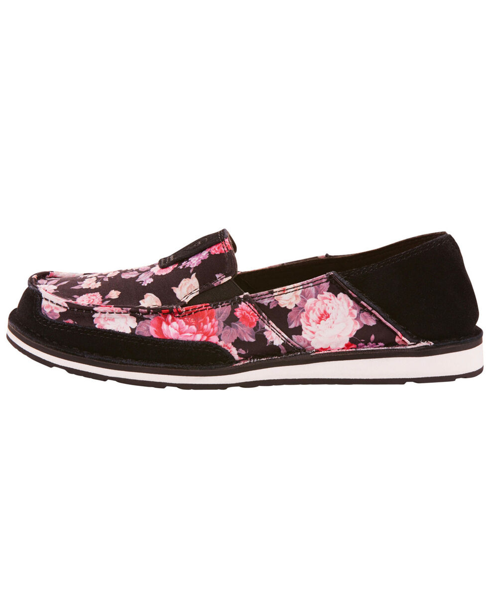 Ariat Women's Satin Floral Cruiser Slip On Shoes - Moc Toe, , hi-res