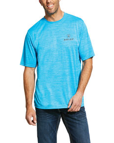 Ariat Men's Blue Charger Logo Graphic T-Shirt , Blue, hi-res