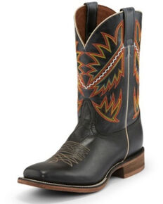 Nocona Men's Deputy Black Western Boots - Square Toe, Black, hi-res