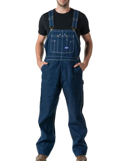 Walls Men's Big Smith Rigid Denim Bib Overalls - Big and Tall, Indigo, hi-res