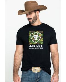 Ariat Men's Black Tiger Camo Logo Graphic T-Shirt , Black, hi-res