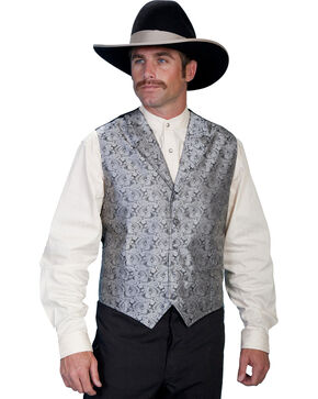 Rangewear by Scully Paisley Print Vest - Big & Tall, Grey, hi-res