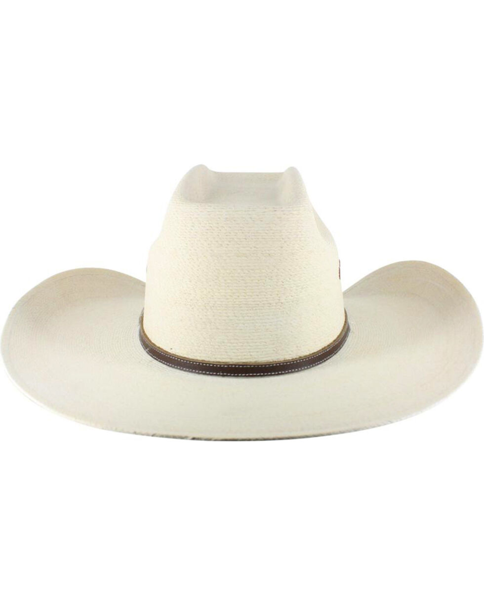 Atwood Men's 7X Kaycee Palm Leaf Straw Cowboy Hat, Natural, hi-res