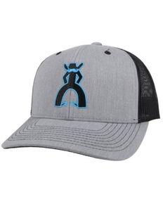 HOOey Men's Punchy Logo Mesh Back Trucker Cap , Grey, hi-res