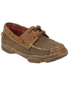 Tony Lama Women's Straw 3R Casuals Canvas & Leather Shoes, Tan, hi-res