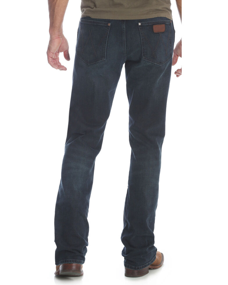 Wrangler Men's Blue Retro Relaxed Fit Stretch Bootcut Jeans - Long , Blue, hi-res