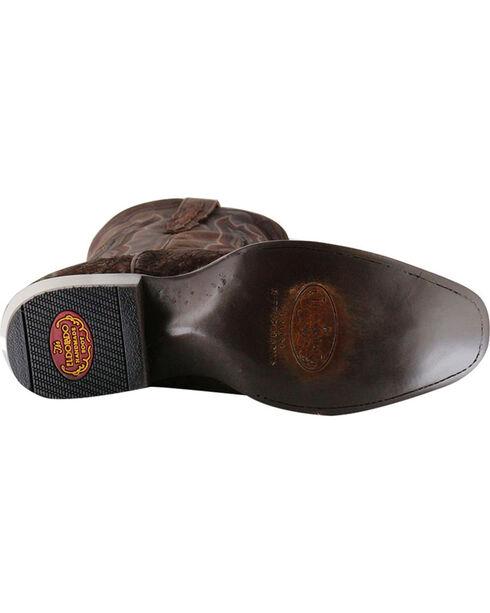El Dorado Men's Genuine Sueded Hippo Western Boots - Square Toe, Chocolate, hi-res