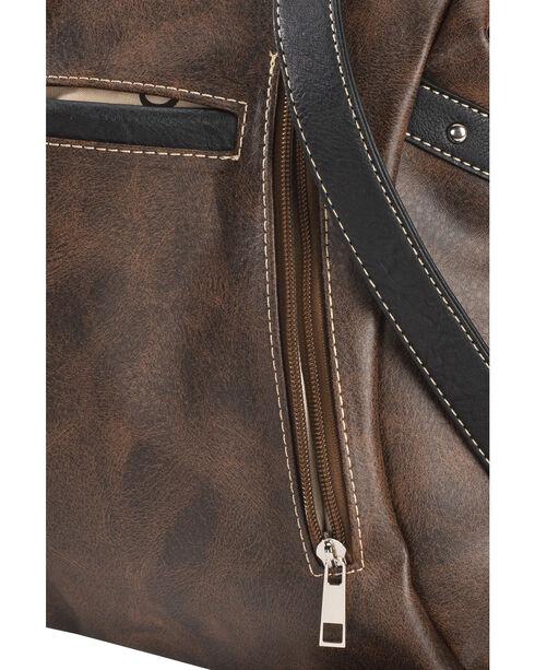 Wear N.E. Wear Women's Bling Cross Western Backpack, Brown, hi-res