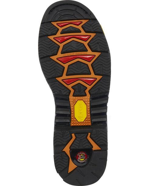 "Justin Men's Brown Warhawk Waterproof 8"" Work Boots - Composite Toe , Brown, hi-res"