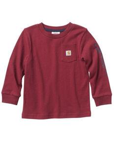 Carhartt Toddler Boys' Pocket Logo Long Sleeve T-Shirt , Red, hi-res