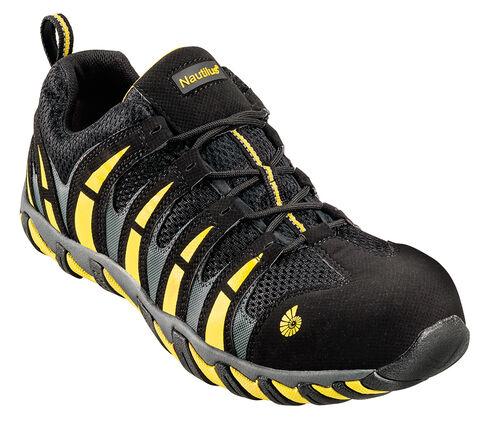 Nautilus Men's Nylon Mesh Athletic Work Shoes - Composition Toe, Blk/yellow, hi-res