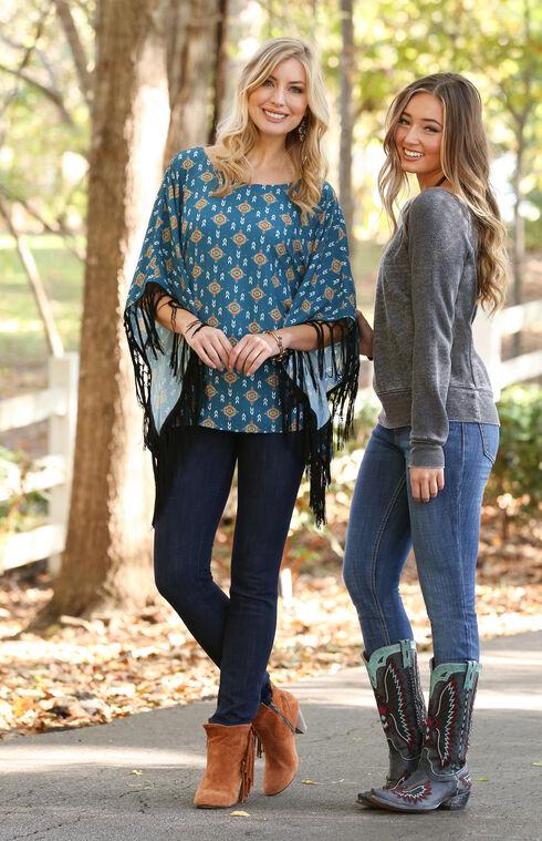 Wrangler Retro® Women's Dark Blue Mid-Rise Mae Jeans - Skinny, Dark Blue, hi-res