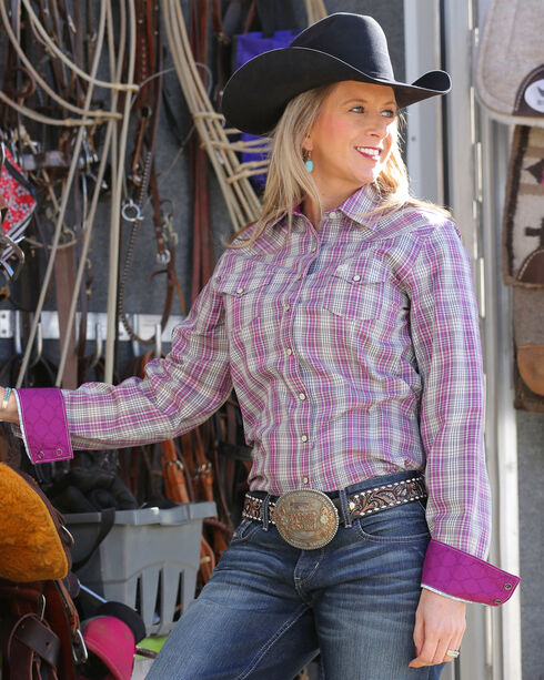 Cinch Women's Snap Front Plaid Shirt , Multi, hi-res