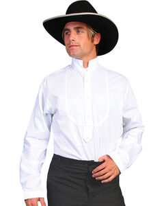 Rangewear by Scully High Collar Bib Front Shirt, White, hi-res