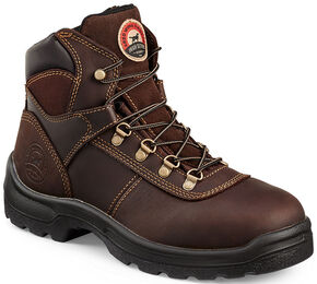 Red Wing Irish Setter Brown Ely Hiker Work Boots - Steel Toe , Brown, hi-res