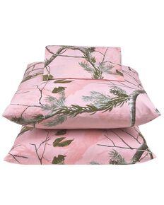 Realtree All Purpose Pink Queen Sheet Set, Pink, hi-res