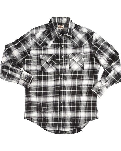 Ely Cattleman Men's Black Brawny Flannel Shirt, , hi-res