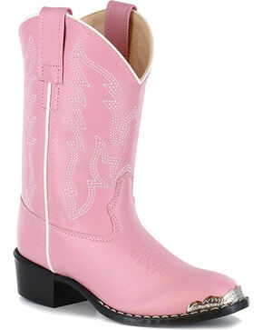 Shyanne Girls' Metal Toe Rand Western Boots - Round Toe, Pink, hi-res