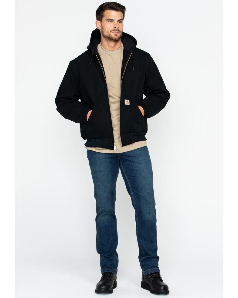 Carhartt Men's Duck Active Zip Front Work Jacket, Black, hi-res