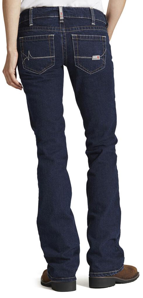 Ariat Women's Fire-Resistant Bootcut Work Jeans, Stonewash, hi-res