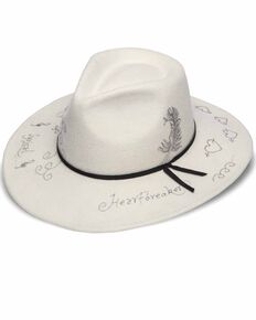 'ale by Alessandra Women's Rock N' Roll Wool Hat, White, hi-res