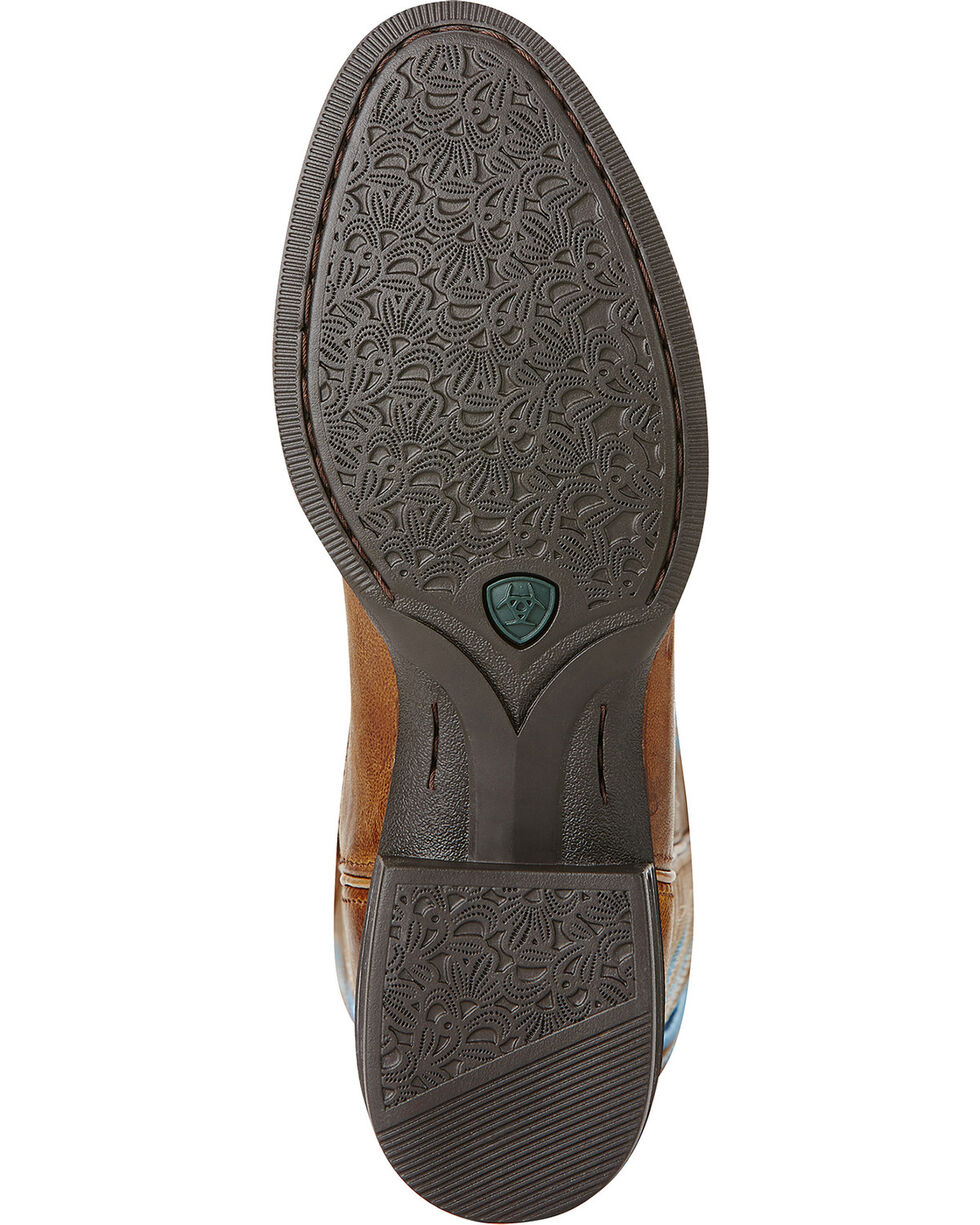 Ariat Round Up Stockman Cowgirl Boots - Round Toe, Wood, hi-res
