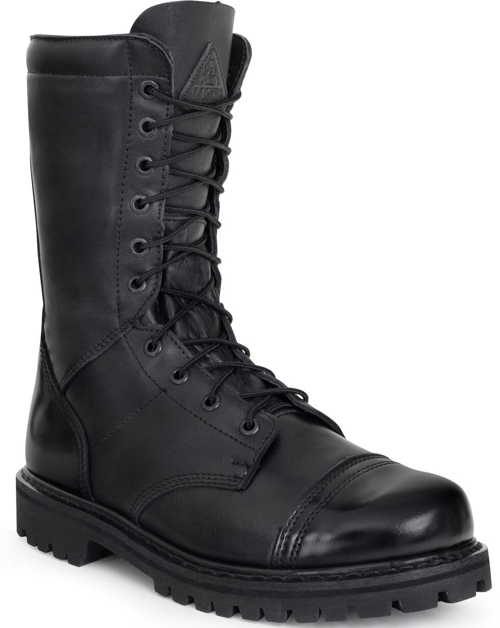 Rocky Women's Zipper Jump Boots - Round Toe, Black, hi-res