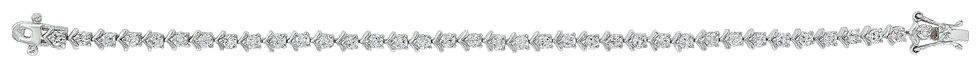 Montana Silversmiths Star Lights and Chevron Link Bracelet, Silver, hi-res