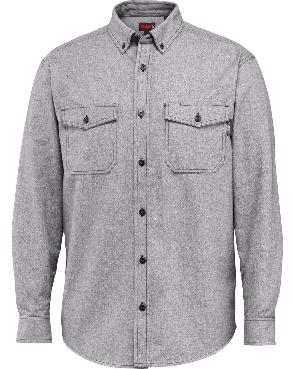 Wolverine Men's Drummond Long Sleeve Flannel Shirt, Grey, hi-res