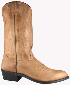 Smoky Mountain Men's Bomber Cowboy Boots - Round Toe, Tan, hi-res