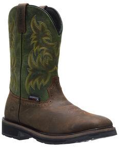 Wolverine Men's Rancher Waterproof Western Work Boots - Steel Toe, Green/brown, hi-res