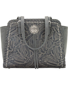 Bandana By American West Women's Trinity Trail Zip Top Tote, Grey, hi-res