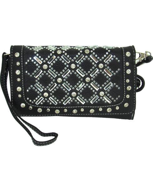 Savana Women's Tri-Fold Embellished Wallet , , hi-res