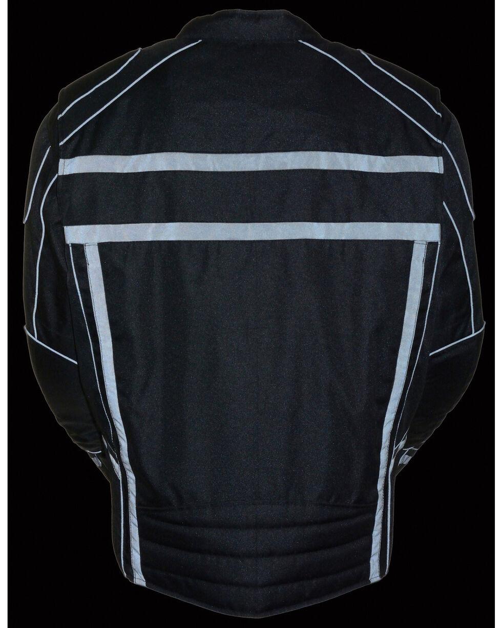 Milwaukee Leather Black Vented Reflective Jacket - Big 4X , Black, hi-res