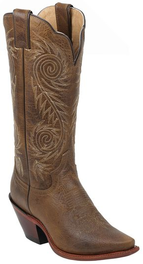 Justin Tan Damiana Western Cowgirl Boots - Pointed Toe, Tan, hi-res