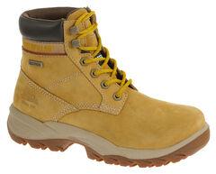 """Caterpillar Women's Dryverse 6"""" Waterproof Work Boots - Steel Toe, Honey, hi-res"""