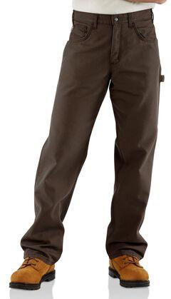 Carhartt Flame Resistant  Canvas Work Pants, Dark Brown, hi-res