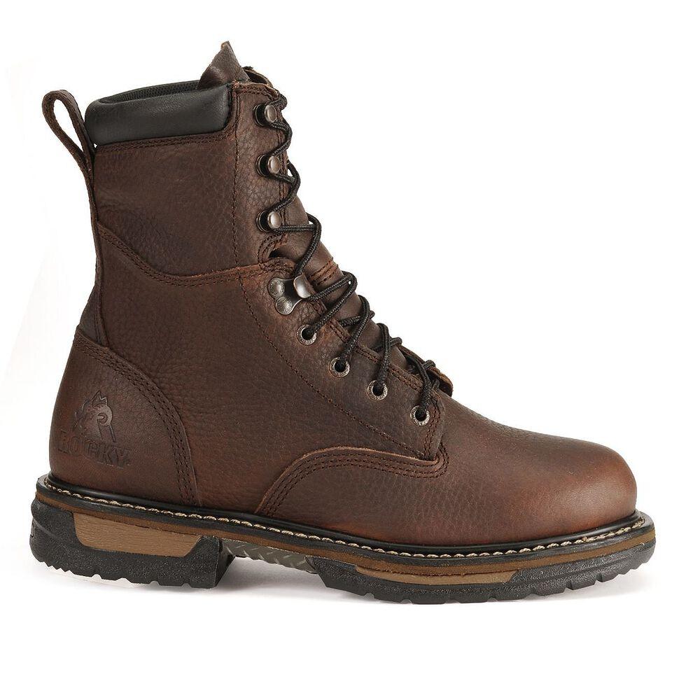 "Rocky Ironclad 8"" Waterproof Work Boots, Bridle Brn, hi-res"