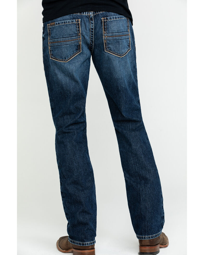 Ariat Men's M4 Bradford Bugsy Low Stackable Straight Jeans - Big , Blue, hi-res